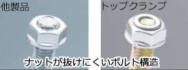 φ48.6×φ42.7兼用トップクランプ直交/自在商品特徴説明画像