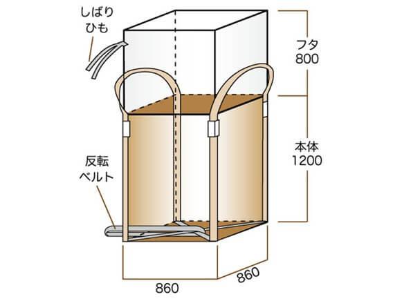 コンテナバック1t角型
