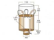 コンテナバッグ1t丸型.・排出口付き