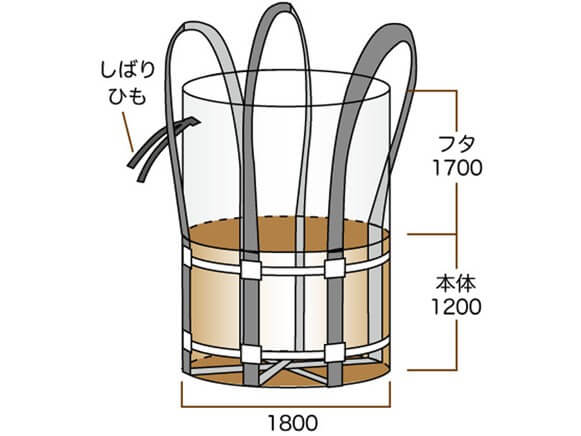 コンテナバッグ3t丸型