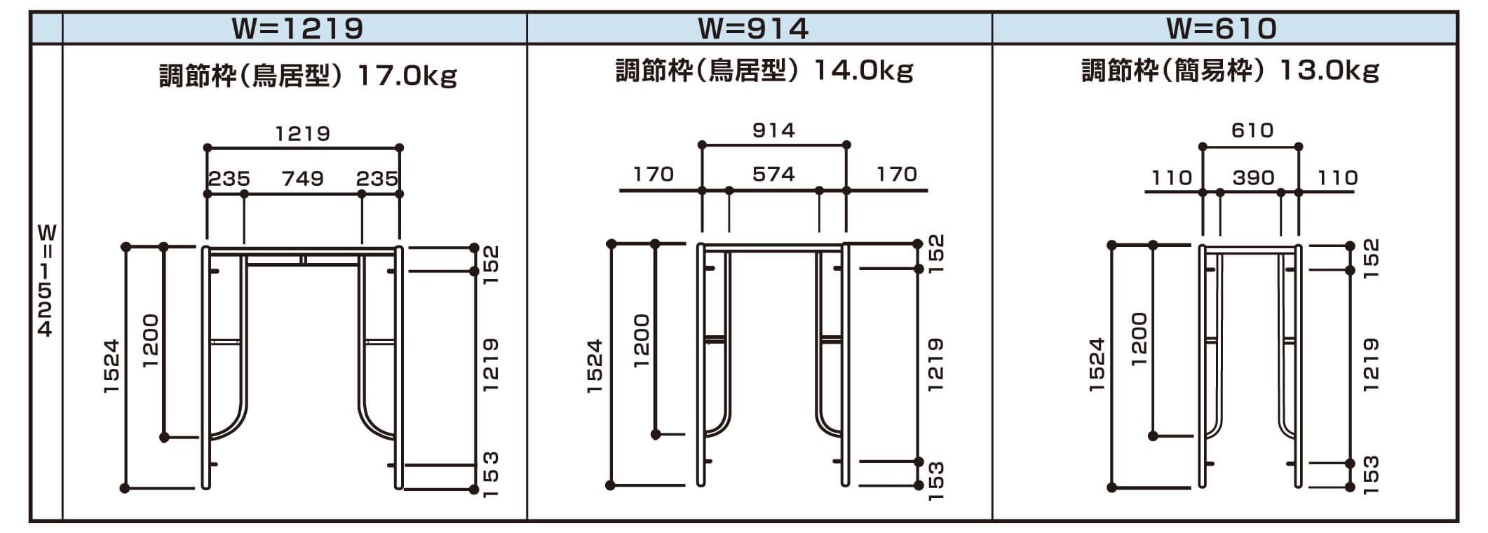 調節枠商品規格画像