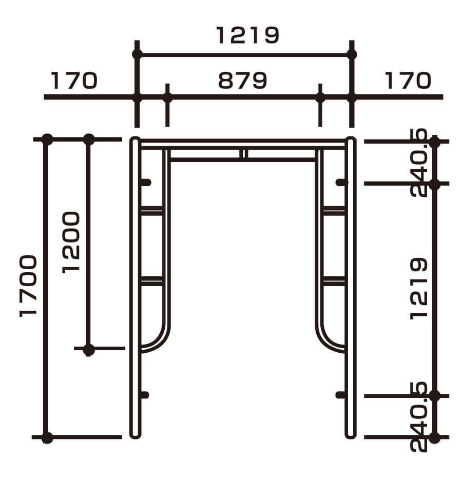 枠組建枠規格w1219画像