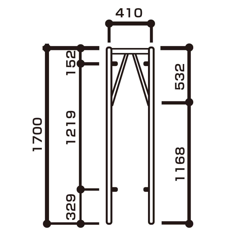 枠組建枠規格w410画像