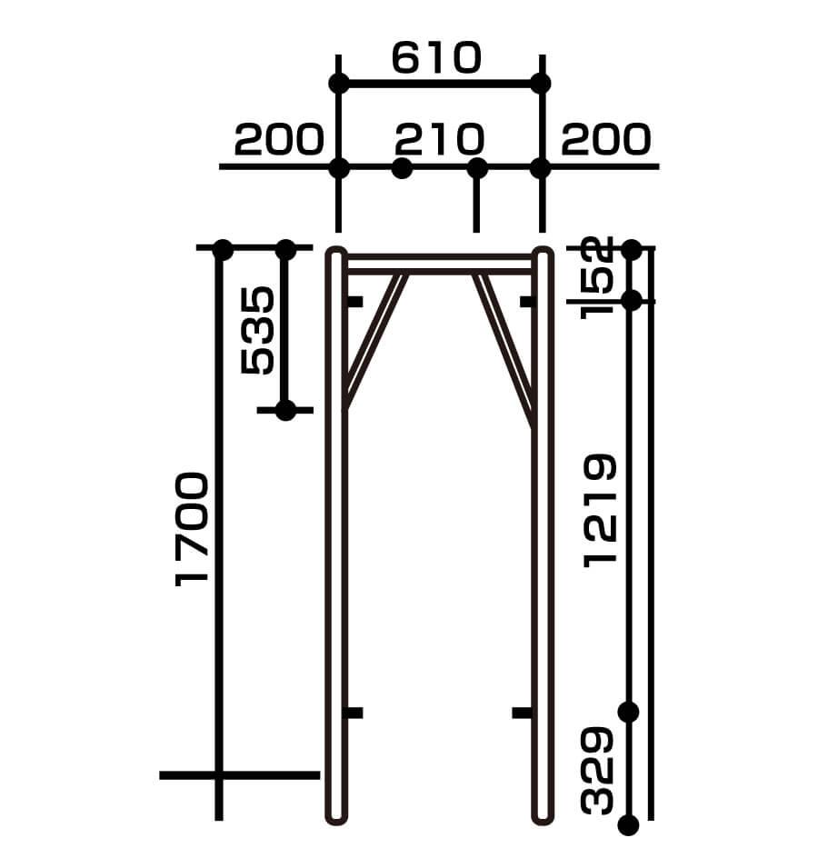 枠組建枠規格w610画像