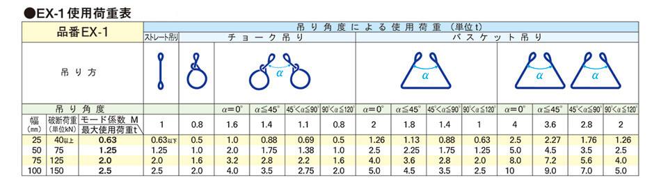 ロックスリング荷重表画像