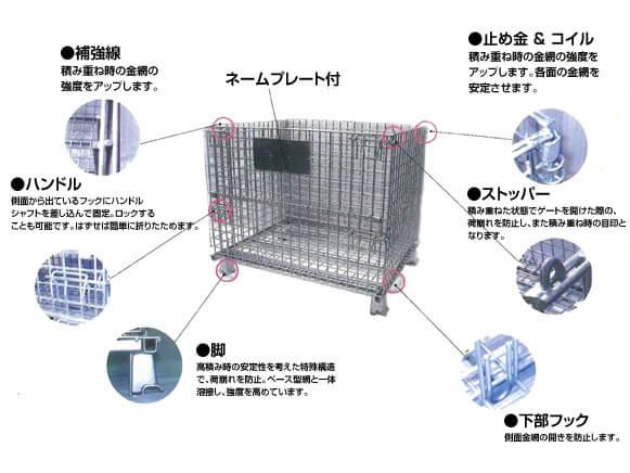 メッシュパレット商品規格画像