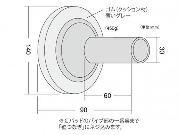 壁あて圧縮材Cパッド商品画像スライド3枚目