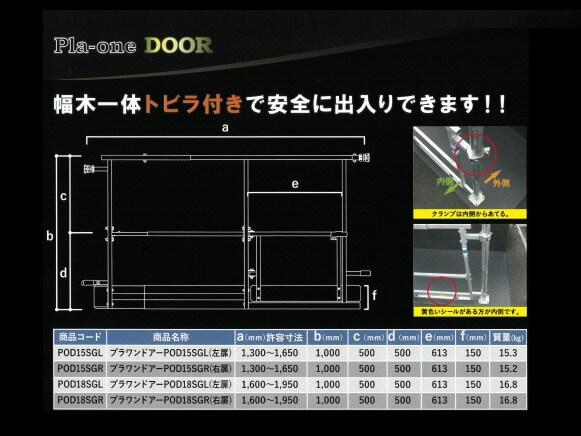 プラワンドアー(単管足場用伸縮手摺枠 ドア付き)商品スライド画像1枚目